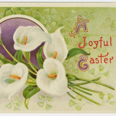 "Digital Download ""A Joyful Easter"" Easter Postcard (c.1913) - Instant Download Printable - thirdshift"