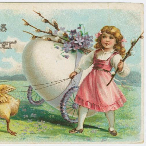 "Digital Download ""A Joyous Easter"" Easter Postcard (c.1910) - Instant Download Printable - thirdshift"