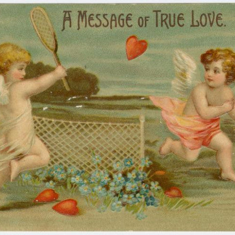 "Digital Download ""A Message of True Love"" Valentine's Day Postcard (c.1910) - Instant Download Printable - thirdshift"