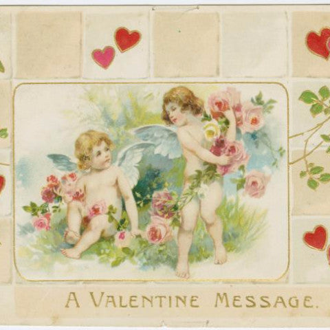 "Digital Download ""A Valentine Message"" Valentine's Day Postcard (c.1910) - Instant Download Printable - ThirdShiftVintage.com"