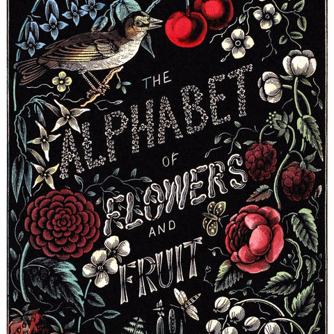 "Digital Download ""The Alphabet of Flowers and Fruit"" Cover (c.1856) - Instant Download Printable - ThirdShiftVintage.com"