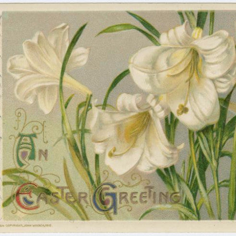"Digital Download ""An Easter Greeting"" Easter Postcard (c.1911) - Instant Download Printable - thirdshift"