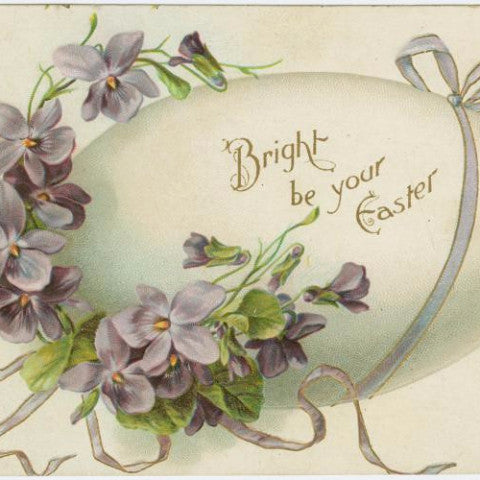 "Digital Download ""Bright Be Your Easter"" Easter Postcard (c.1909) - Instant Download Printable"