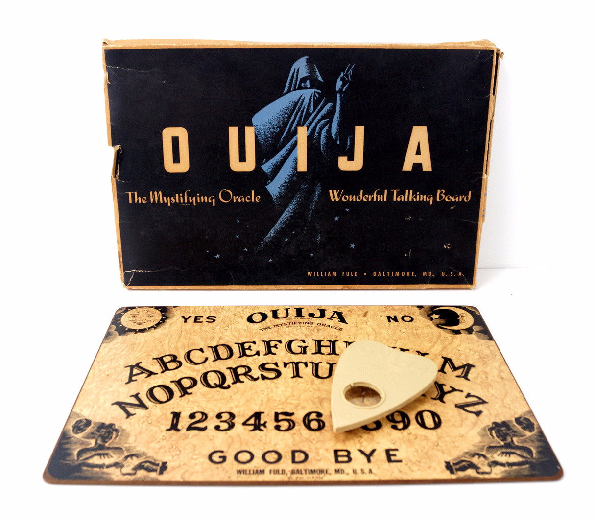 Vintage Original Ouija Board By William Fuld C1930 40s N2