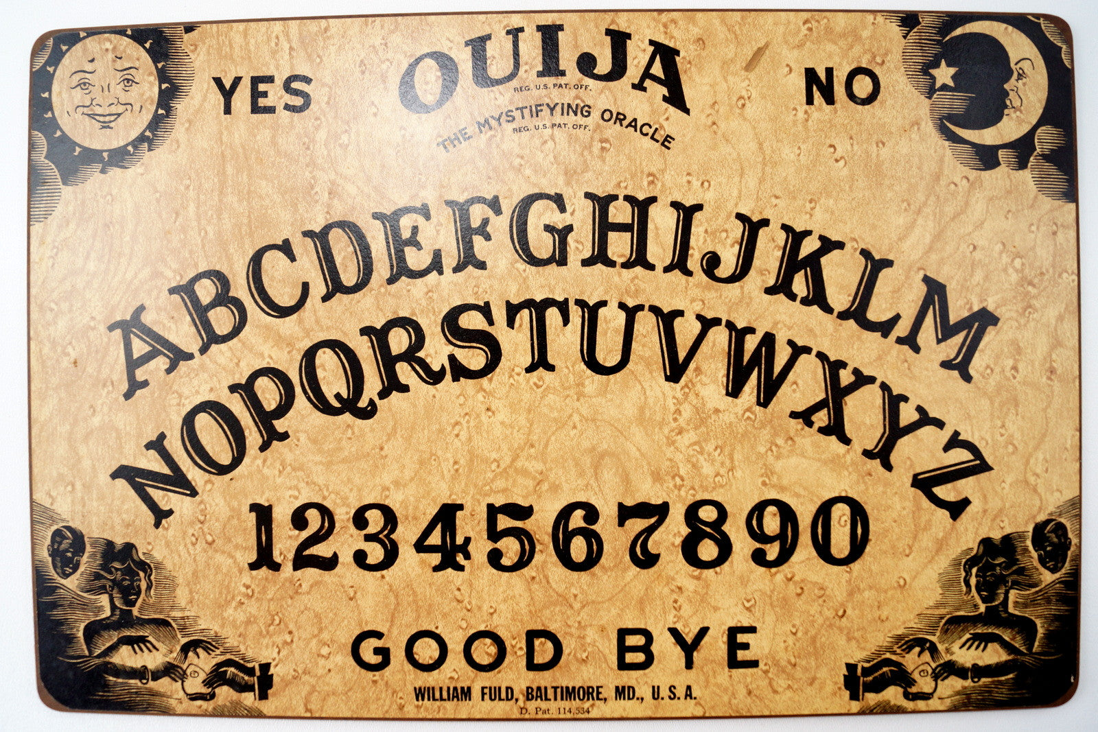 Vintage Original Ouija Board by William Fuld (c.1930,40s) N2