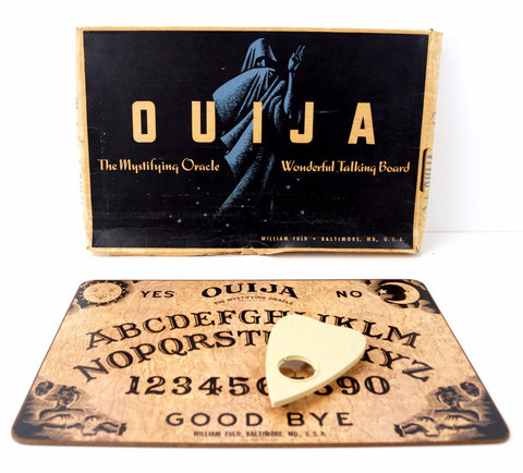 Vintage Original Ouija Board by William Fuld (c.1930-40s) N1 - ThirdShiftVintage.com