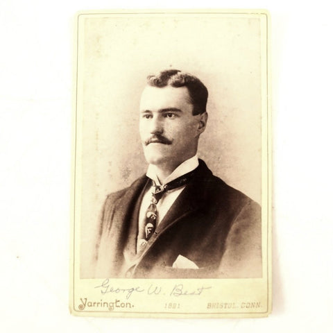 Antique Photograph Cabinet Card of George W. Best from Connecticut (c.1891) - thirdshift