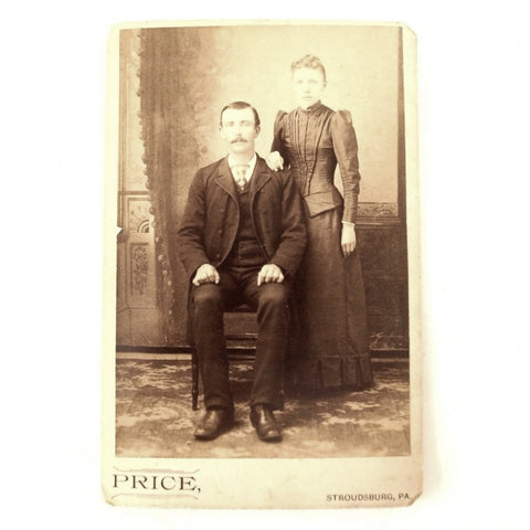Antique Photograph Cabinet Card of Thomas and Mary Shiffer from PA (c.1880s) - ThirdShiftVintage.com