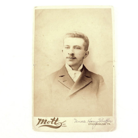 Antique Photograph Cabinet Card of Harry Shiffer from PA (c.1880s) - ThirdShiftVintage.com