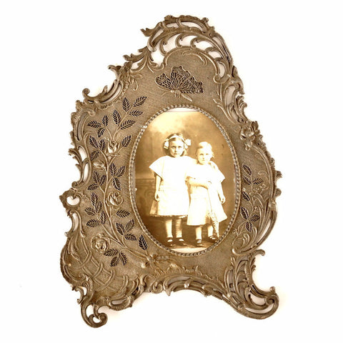Vintage Ornate Picture Frame with Butterflies and Flowers, Very Detailed (c.1940s) - ThirdShift Vintage