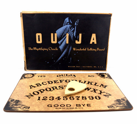 Vintage Original Ouija Board by William Fuld, Extra Large (c.1930-40s) N2 - thirdshift