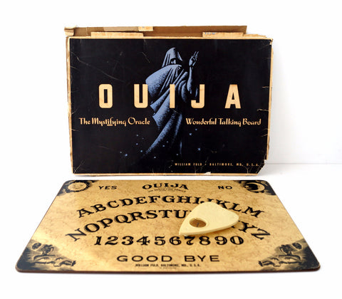 Vintage Original Ouija Board by William Fuld, Extra Large (c.1930-40s) N3 - ThirdShiftVintage.com