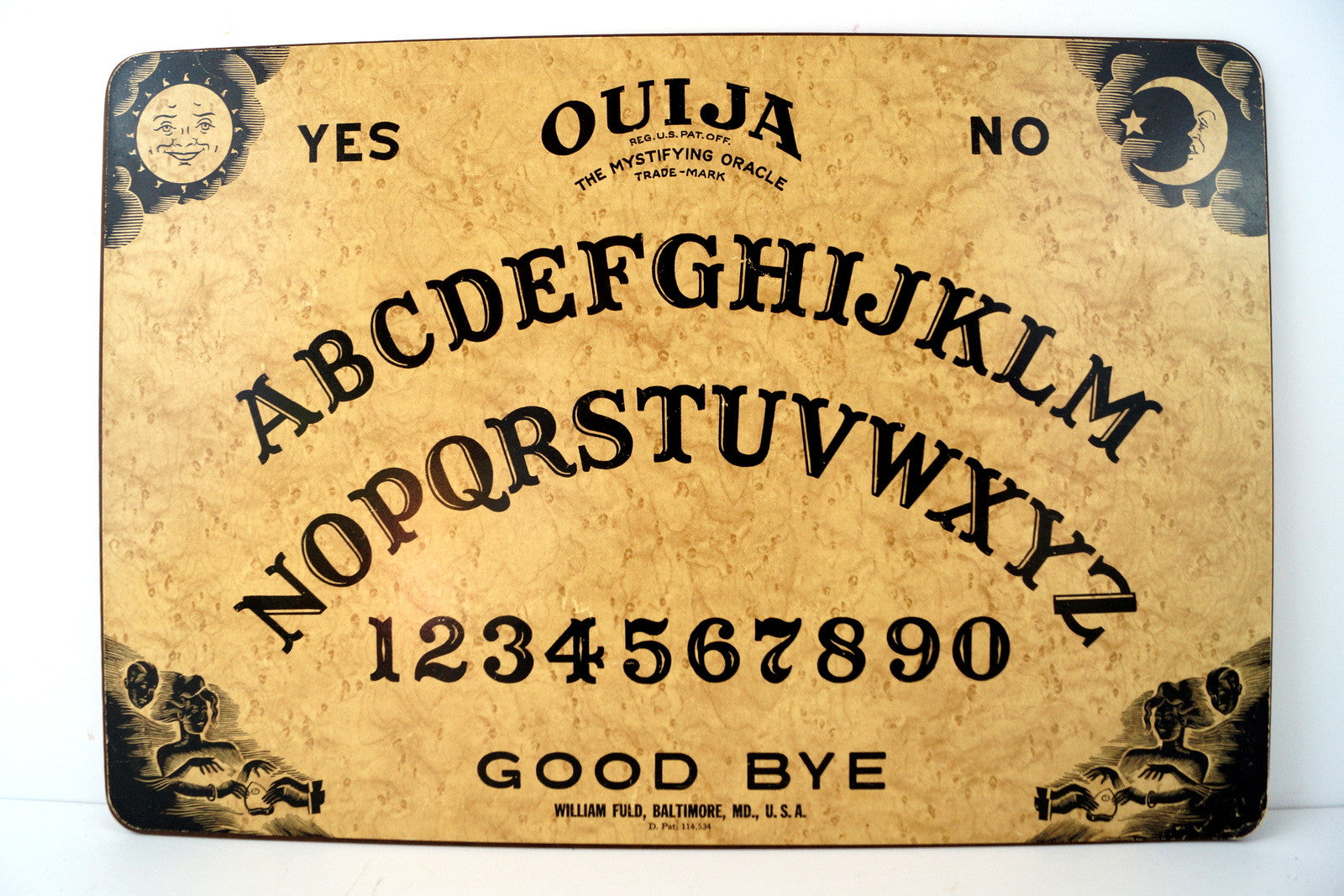Vintage Original Ouija Board by William Fuld, Extra Large (c