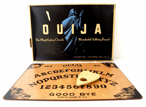 Vintage Original Ouija Board by William Fuld, Extra Large (c.1930-40s) N4 - ThirdShiftVintage.com