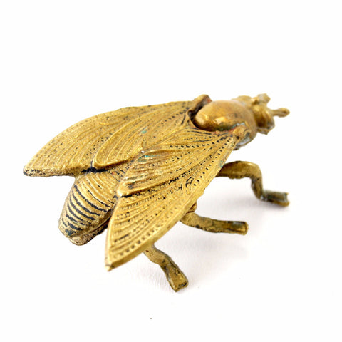 Vintage Brass Fly Ashtray / Trinket Box with Pivoting Wings (c.1950s)