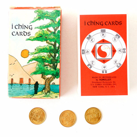 Vintage I Ching Cards, Complete Set in Original Box with Coins (c.1971) - thirdshift