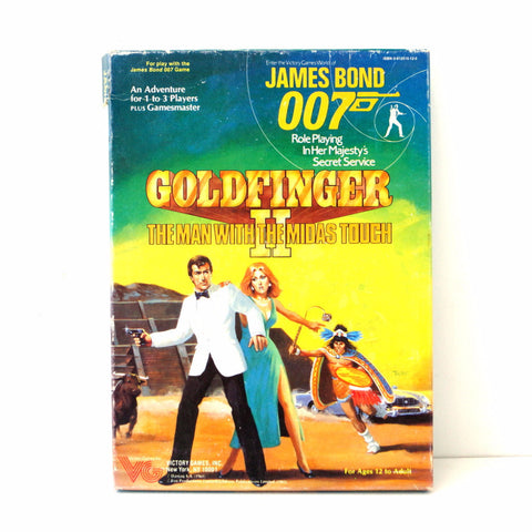 Vintage James Bond Goldfinger II Adventure Game, in Original Box (c.1985)