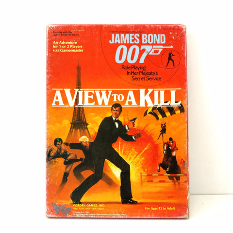 Vintage James Bond A View to a Kill Adventure Game, in Original Box (c.1983)
