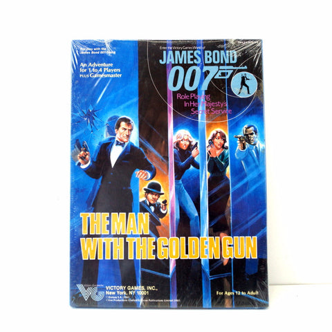 Vintage James Bond The Man With the Golden Gun Adventure Game, in Original Box (c.1985) - thirdshift