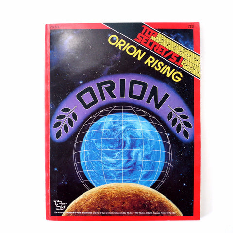 "Vintage Top Secret / S.I. ""Orion Rising"" Role Playing Book by TSR, Inc. (1980s) - ThirdShift Vintage"