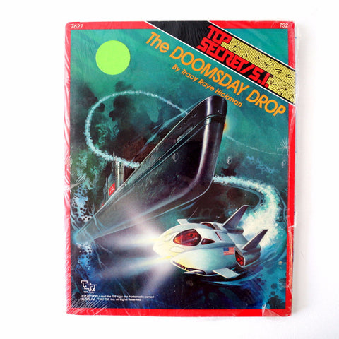 "Vintage Top Secret / S.I. ""The Doomsday Drop"" Role Playing Book by TSR, Inc. (1980s) - ThirdShift Vintage"
