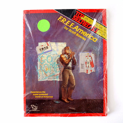 "Vintage Top Secret / S.I. ""F.R.E.E. America"" Role Playing Book by TSR, Inc. (1980s) - ThirdShift Vintage"
