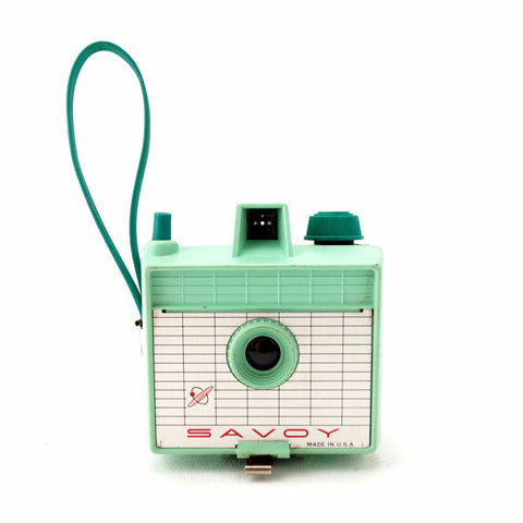 Vintage Savoy Camera in Mint Green (c.1960s) - thirdshift