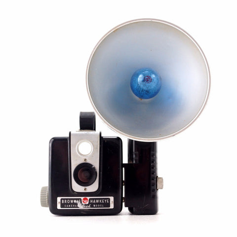 Vintage Kodak Brownie Hawkeye Camera, Flash Model with Flash Attachment (c.1950s) - ThirdShiftVintage.com