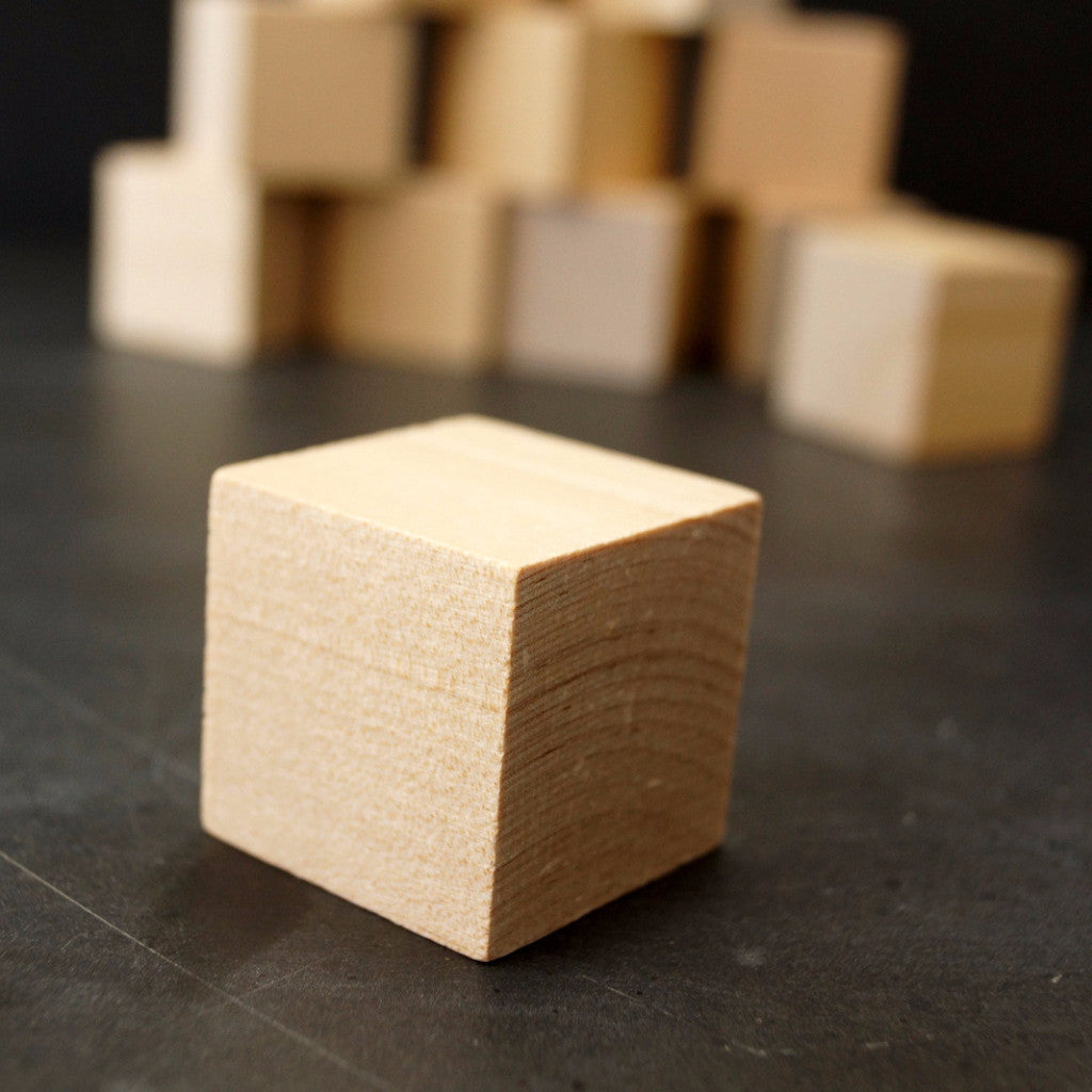 Blank Do It Yourself Wood Blocks Cubes 1 14 Inch Cube Set Of 12