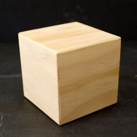 Blank Do-It-Yourself Wood Block / Cube, 3 inch cube - ThirdShift Vintage