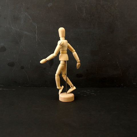 "Mini Wood Manikin / Mannequin (5"" high) - ThirdShiftVintage.com"