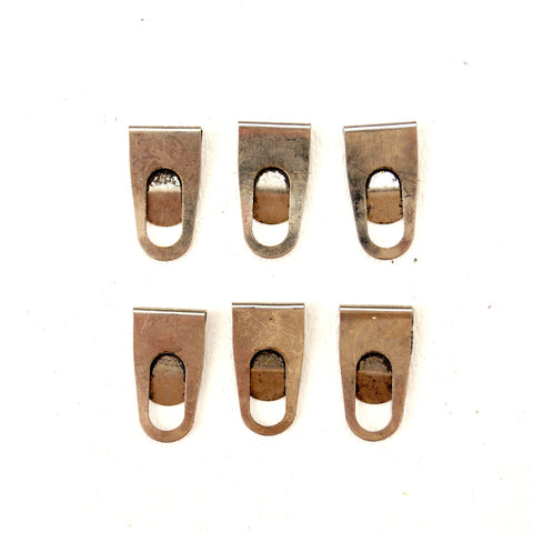 Index Clips in Antique Nickel Finish (Set of 6) - ThirdShift Vintage