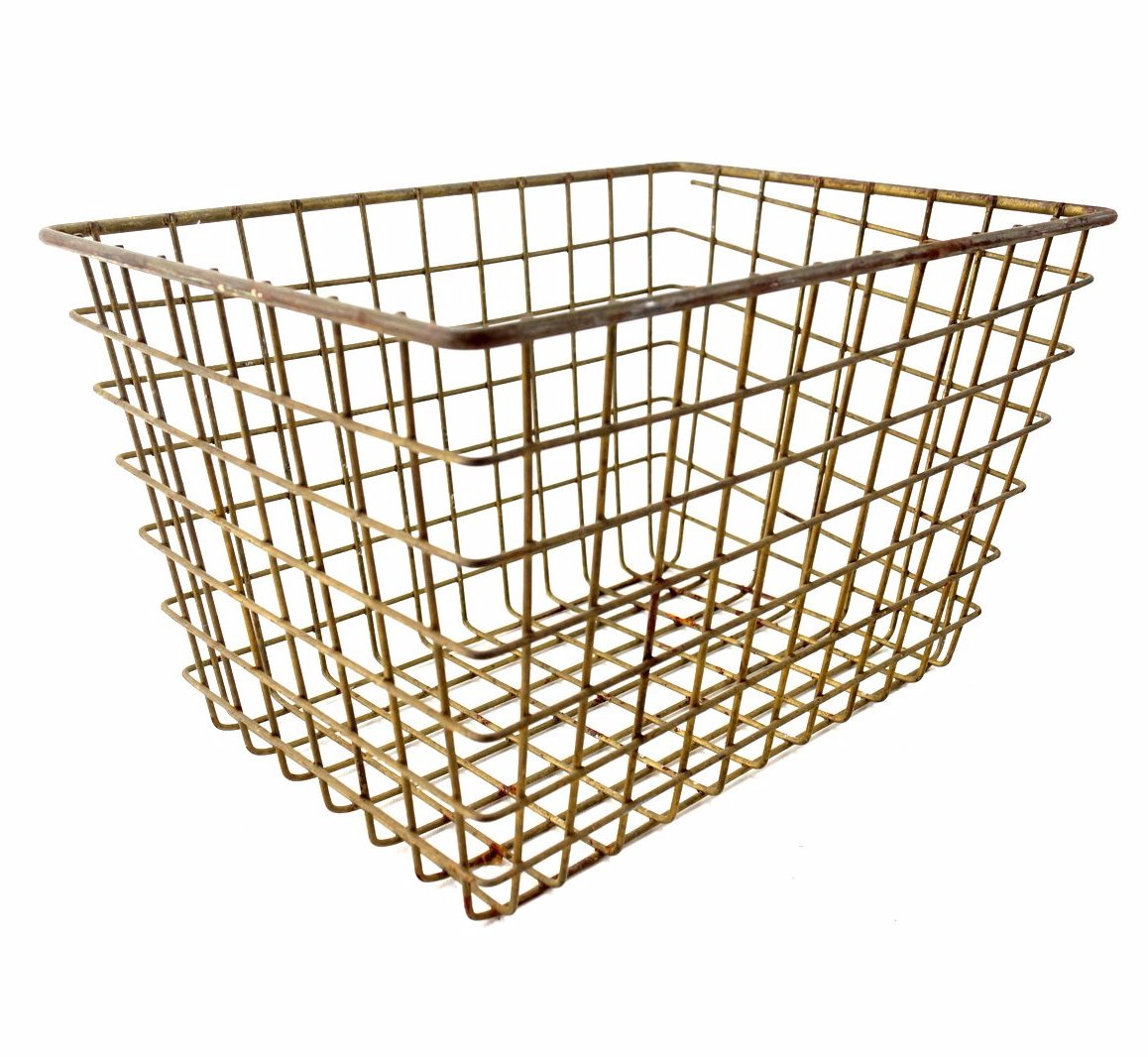 Vintage Metal Wire Locker Basket (c.1950s) – ThirdShiftVintage.com