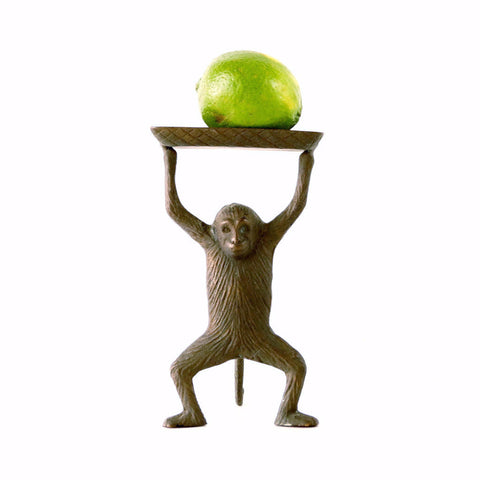 Vintage Monkey Tray in Cast Brass (c.1970s) - ThirdShiftVintage.com
