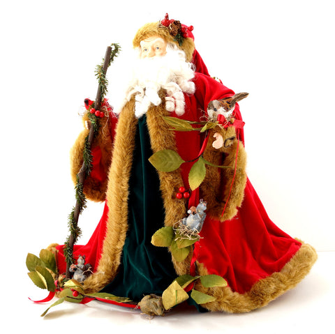 "Vintage Santa Claus Figure with Animals from National Wildlife Federation, 20"" tall (c.1990s) - thirdshift"