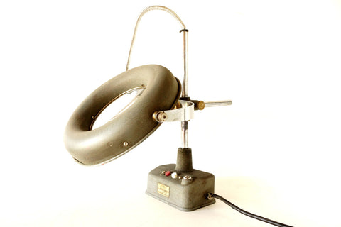 Vintage Industrial Illuminating Magnifier by Toyokunisangyo Boeki Co. Ltd (c.1950s) - thirdshift