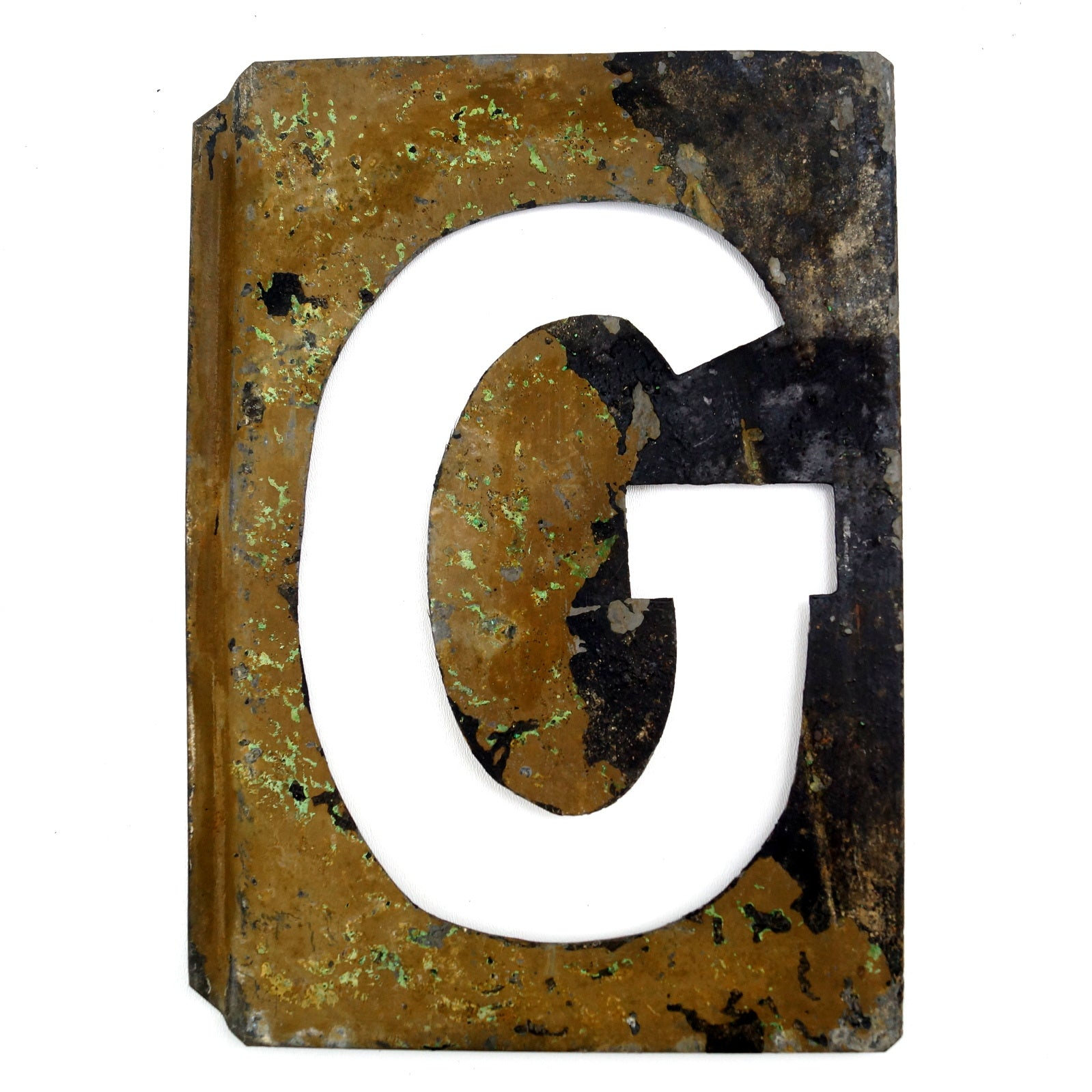 vintage metal letter g moonglo marquee letter 13 tall c