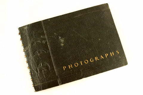 Vintage Photo Album with School Pictures of Children (c.1930s) - ThirdShiftVintage.com