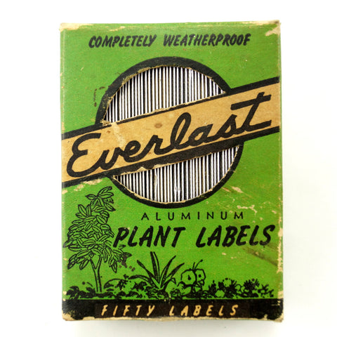 Vintage Everlast Aluminum Plant Labels in Original Box (c.1950s) - thirdshift