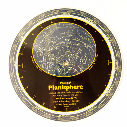 Vintage Planisphere by Philips (c.1982) - ThirdShift Vintage