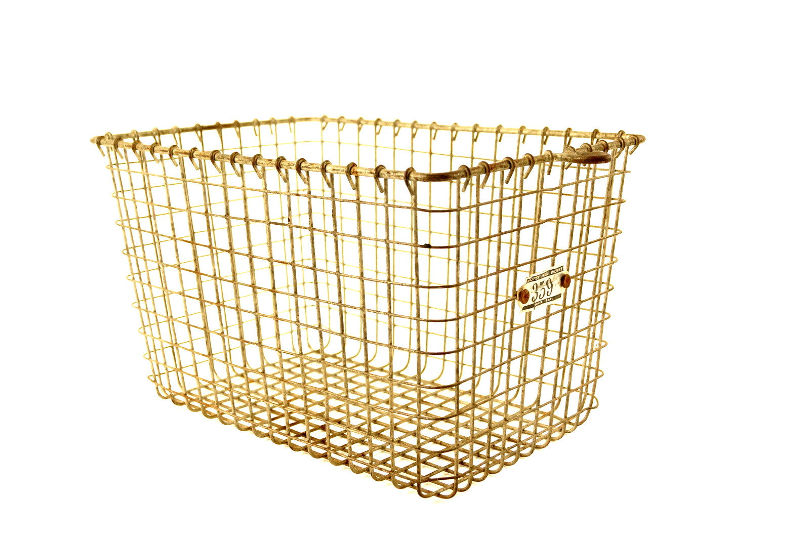 Vintage Metal Wire Locker Basket with Number 359 Tag (c.1950s ...