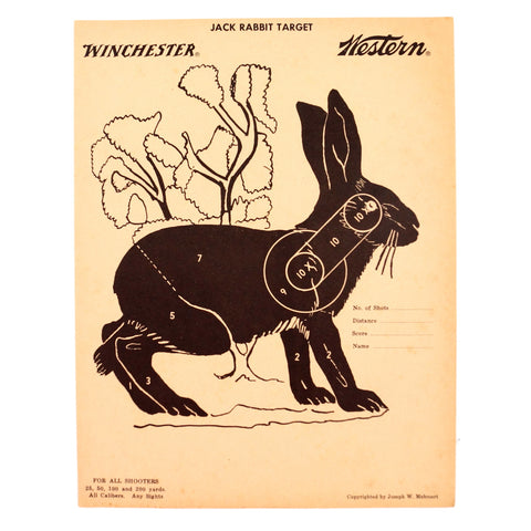 Vintage Winchester Jack Rabbit Shooting Target, 12 x 9 inches (c.1950s) - thirdshift