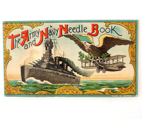 "Vintage ""The Army and Navy Needle Book"" (c.1940s) - World War II Collectible - thirdshift"