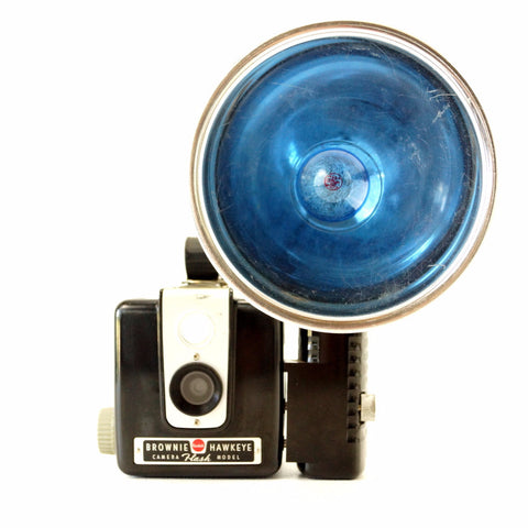 Vintage Kodak Brownie Hawkeye Camera, Flash Model with Large Flash Attachment (c.1950s) - ThirdShiftVintage.com