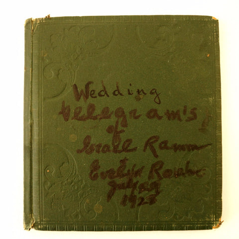 Vintage Wedding Telegram Book (c.1928) - With Video of Pages - thirdshift