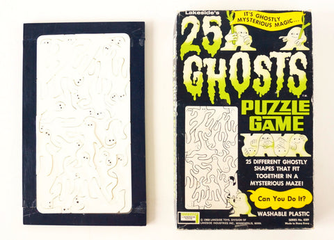 Vintage 25 Ghosts Puzzle Game in Original Box (c.1960s) - ThirdShiftVintage.com