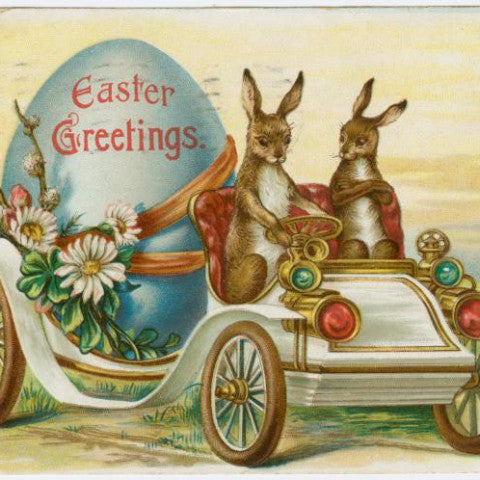 "Digital Download ""Easter Greetings"" Easter Postcard (c.1907) - Instant Download Printable - thirdshift"