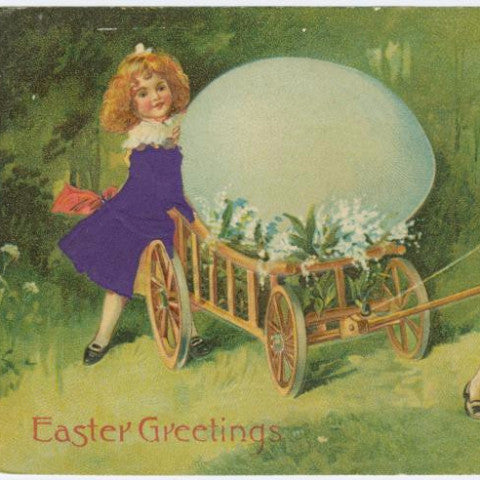 "Digital Download ""Easter Greetings"" Easter Postcard (c.1908) - Instant Download Printable - ThirdShiftVintage.com"