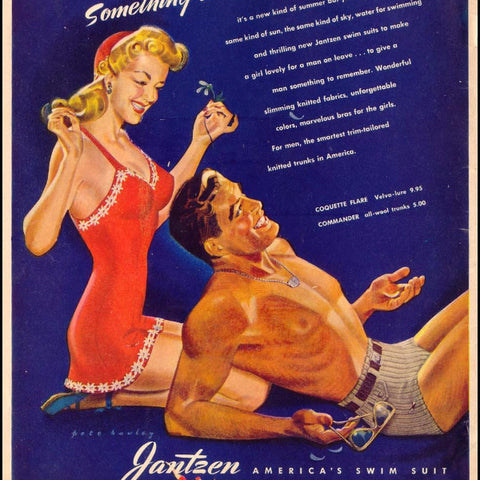"Digital Download ""Jantzen Swim Suit Ad"" (c.1943) - Instant Download Printable - ThirdShift Vintage"