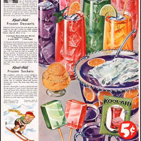 "Digital Download ""Kool-Aid Soft Drink Mix"" Ad (c.1949) - Instant Download Printable"